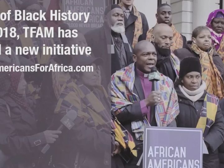 African Americans for Africa City Hall Rally